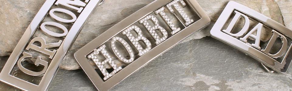 Personalised belt buckles