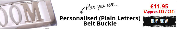 Have you seen Personalised (Plain Letters) Belt Buckle - £9.95 (Approx $15 / €12) - Buy Now