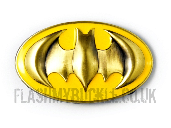 Batman Yellow & Gold Shield Belt Buckle