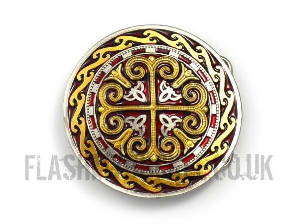 Celtic Cross Shield Belt Buckle