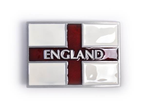 England Text Flag Belt Buckle