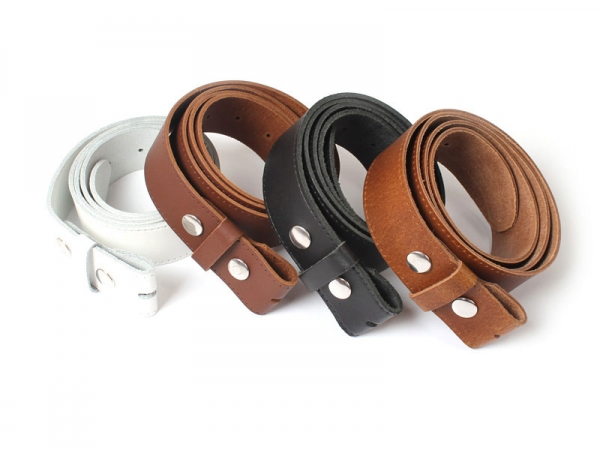 English Leather Snap-Fit Belt - For Detachable Buckles Belt Buckle