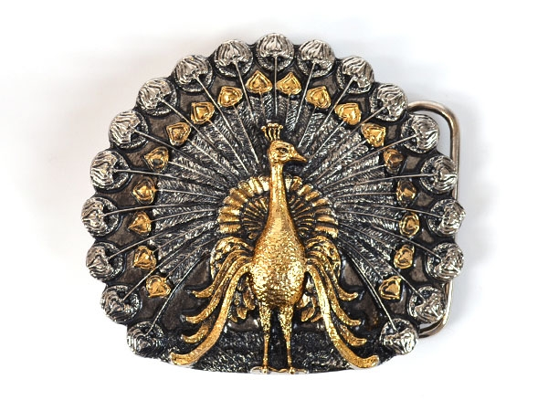 Peacock Belt Buckle