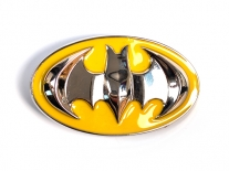 Batman Yellow & Chrome Shield Belt Buckle
