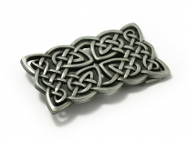 Celtic Cross Weave Rectangle Belt Buckle