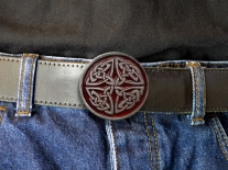 Celtic Interweave Shield Belt Buckle