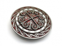 Celtic Silver Cross Shield Belt Buckle