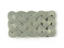 Celtic Weave Rectangle Belt Buckle