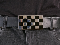 Checkered Flag Belt Buckle
