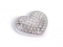 Diamonte Heart Belt Buckle