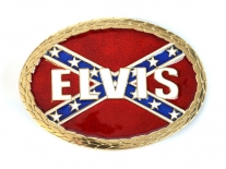 Elvis Presley Rebel Flag Belt Buckle