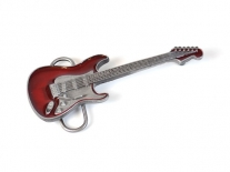 Guitar - Red Belt Buckle
