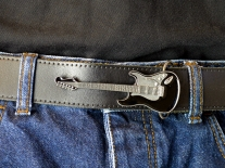Guitar - Black Belt Buckle