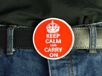 Keep Calm & Carry On Belt Buckle