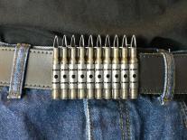 Machine Gun Magazine Belt Buckle