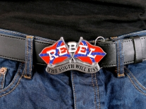 Rebel Flags Belt Buckle