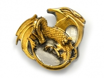 Senga Dragon - Gold Belt Buckle