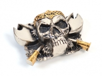 Skull & Axes Belt Buckle