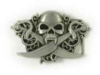 Skull & Crossed Cutlasses Belt Buckle