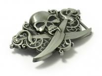 Skull & Crossed Cutlasses Belt Buckle