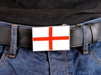 England Flag Belt Buckle