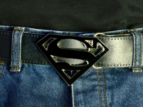 Superman (Black) Belt Buckle