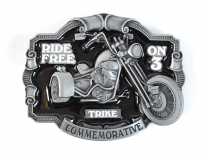 Trike - Ride Free on 3 Belt Buckle