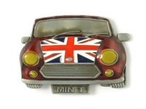 Union Jack Flag on Mini Cooper Belt Buckle