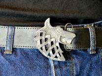 Viking Wolf Belt Buckle