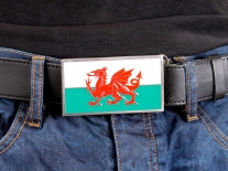 Welsh Dragon Flag Belt Buckle