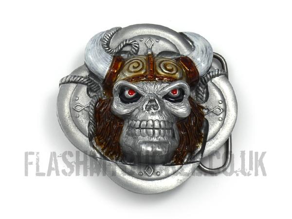 Viking Skull Belt Buckle